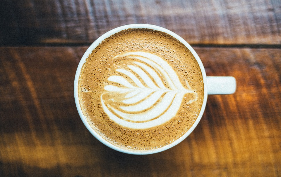 Tasse de café vue de haut
